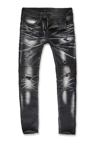 Sean - Malibu Moto Denim (Industrial Black)