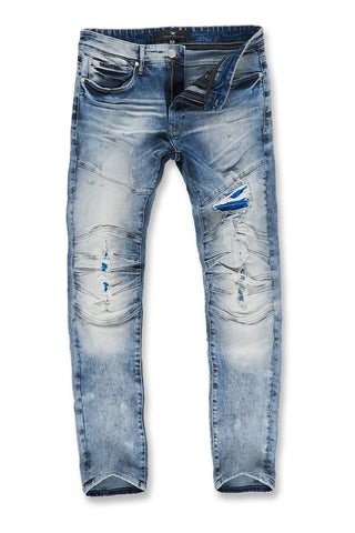 Aaron - Cooperstown Moto Denim (Arctic Wash)