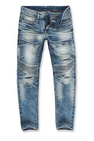 Jordan Craig - Aaron - Bergen Moto Denim (Destroyed Blue)