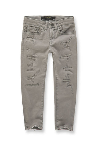 Kids Tribeca Twill Pants (Light Grey)