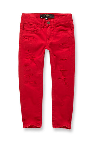 Kids Tribeca Twill Pants (Red)