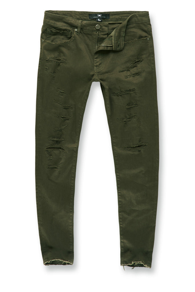 Jordan Craig - Big Men's Tribeca Twill Pants (Army Green)