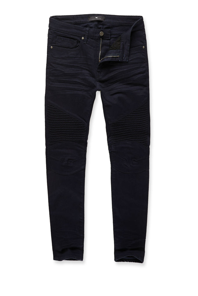 Jordan Craig - Sean - Tribeca Twill Moto Pants (Navy)