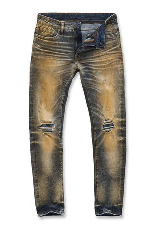 Jordan Craig - Big Men's Aztec Denim (Cognac)