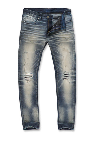 Jordan Craig - Big Men's Aztec Denim (Destroyed Blue)