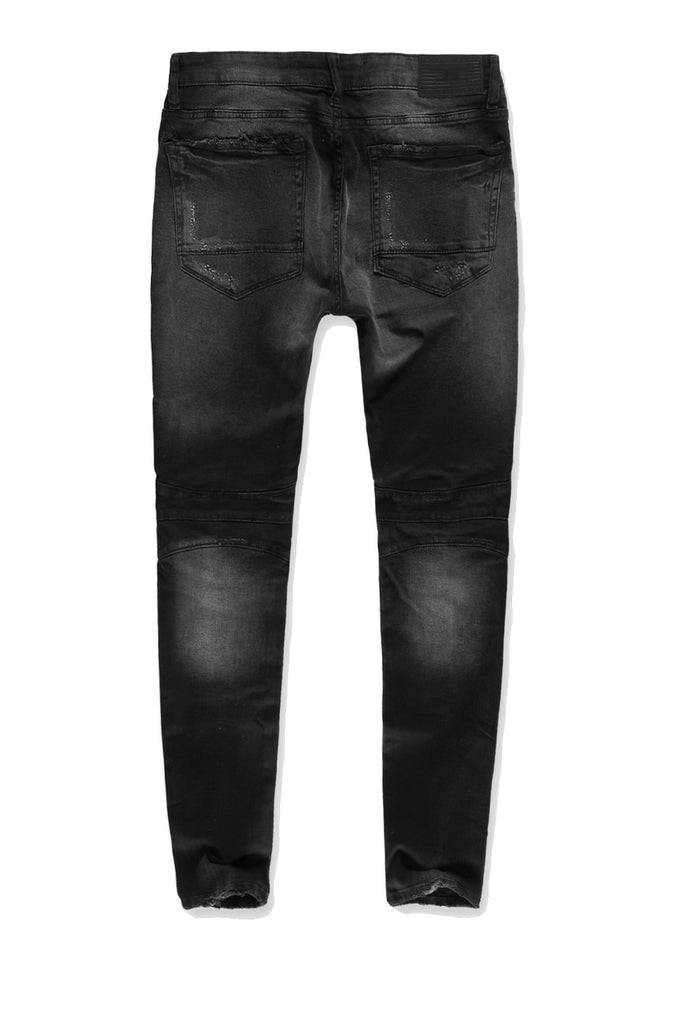 Jordan Craig - Big Men's Vailsburg Moto Denim (Black Shadow)