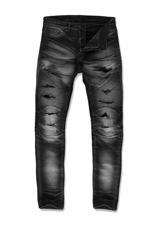 Aaron - Reno Moto Denim (Industrial Black)