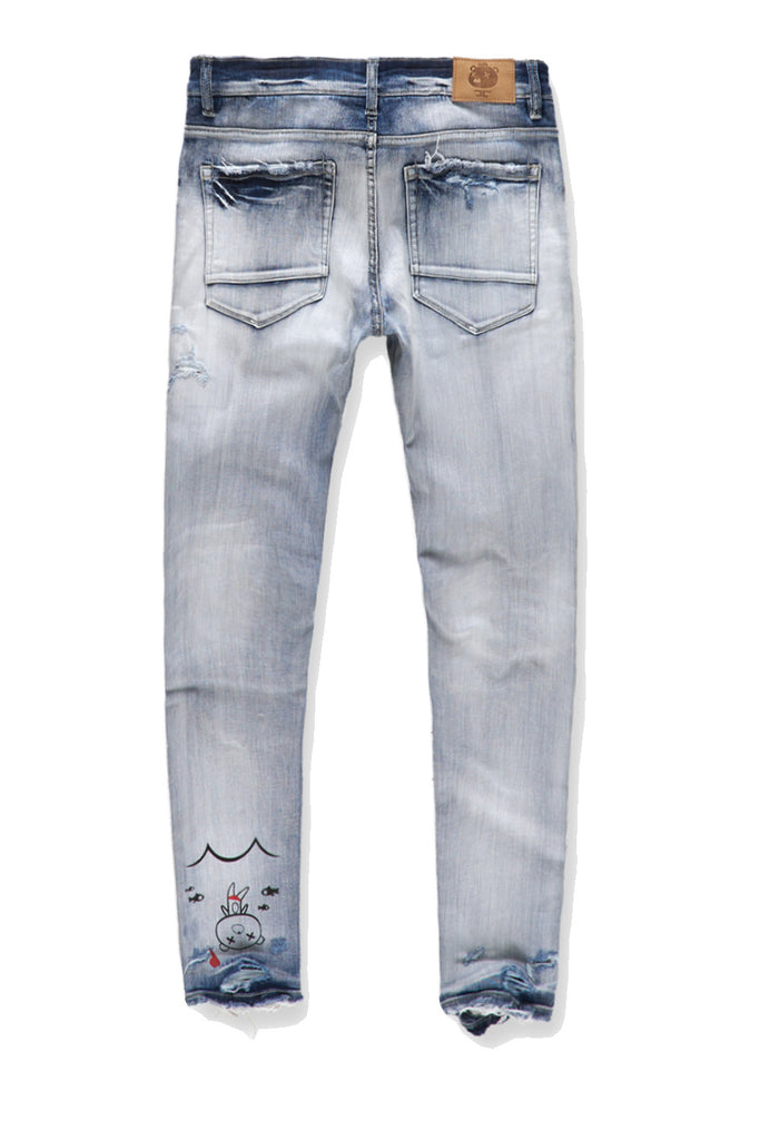 Sean - Plush Bear Stash Denim (Destroyed Blue)