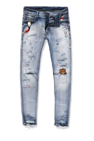 Jordan Craig - Sean - Plush Bear Stash Denim (Destroyed Blue)