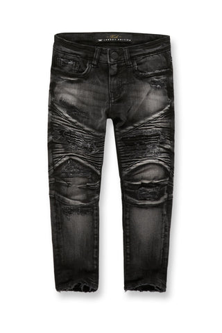 Kids Eastside Moto Denim (Black Shadow)