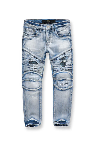 Kids Eastside Moto Denim (Ice Blue)