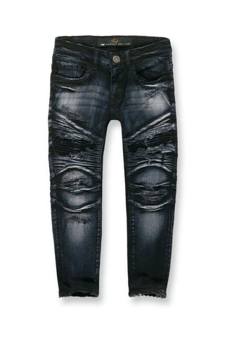 Kids Eastside Moto Denim (Midnight Blue)