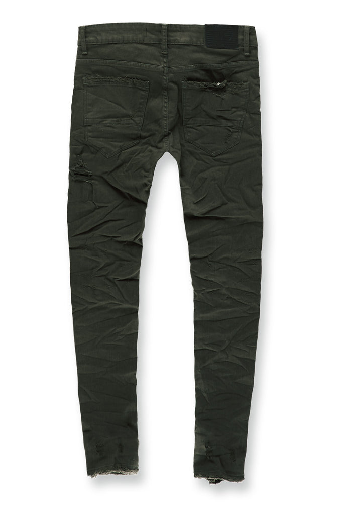 Jordan Craig - Sean - Crushed Denim (Army Green)