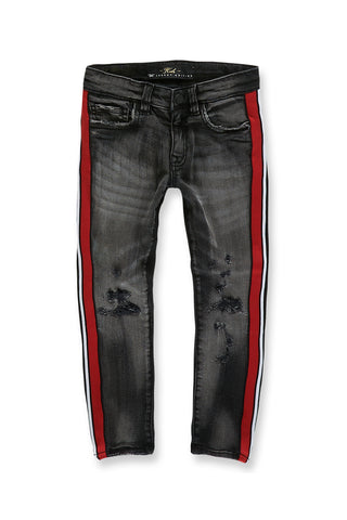 Jordan Craig - Kids Sugar Hill Striped Denim (Black Shadow)