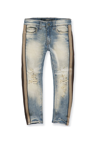 Jordan Craig - Kids Sugar Hill Striped Denim (Desert Storm)