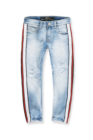 Kids Sugar Hill Striped Denim (Ice Blue)