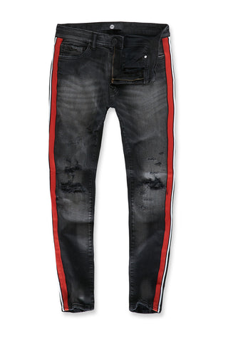 Jordan Craig - Sean - Sugar Hill Striped Denim (Black Shadow)