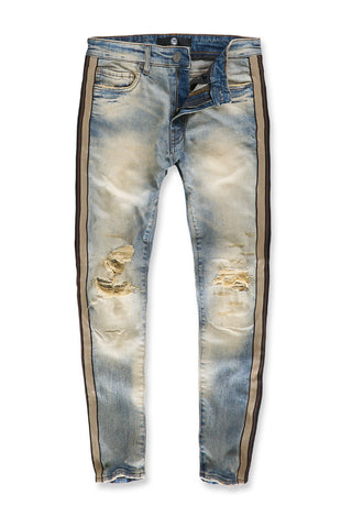 Jordan Craig - Sean - Sugar Hill Striped Denim (Desert Storm)