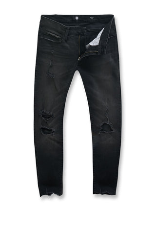 Sean - Avalon Cropped Denim (Black Shadow)