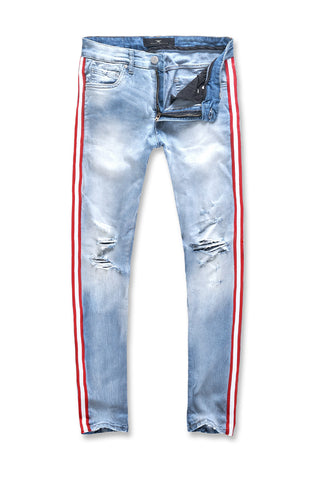 Jordan Craig - Sean - F1 Striped Denim (Ice Blue)