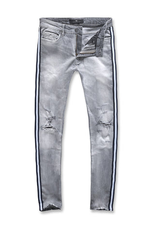 Jordan Craig - Sean - F1 Striped Denim (Cement Wash)