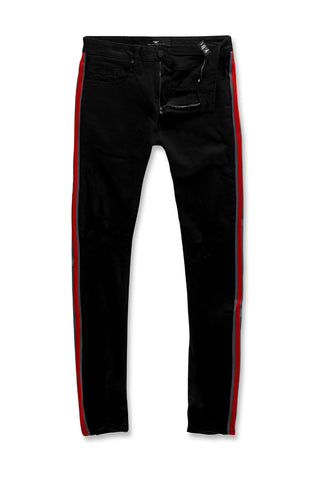 Jordan Craig - Sean - F1 Striped Denim (Jet Black)