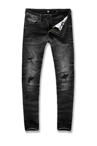 Aaron - Flushing Denim (Black Shadow)