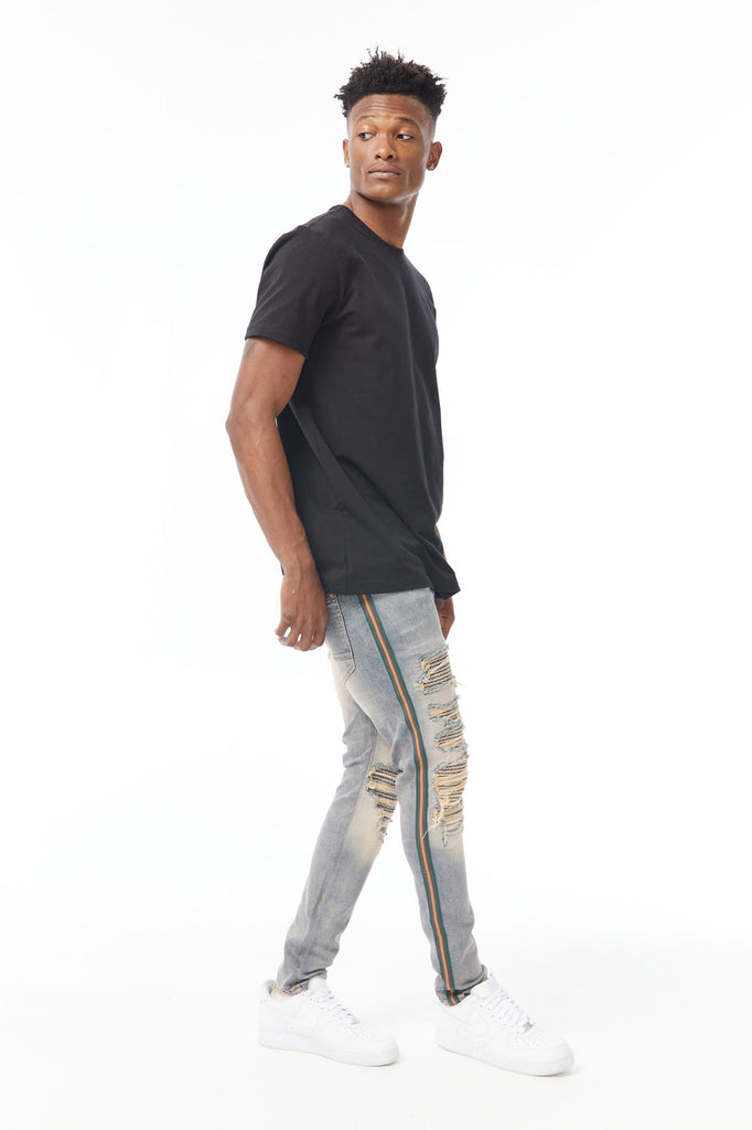 Sean - Saratoga Striped Denim (Desert)