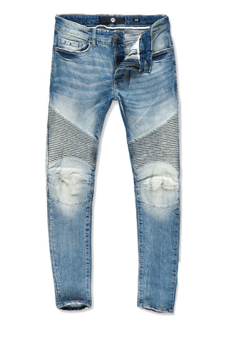 Ross - Apache Moto Denim (Studio Blue)