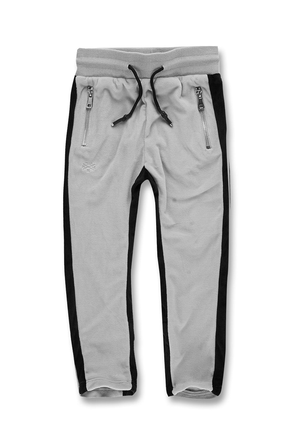 Kids Luciano Velour Pants (Grey)
