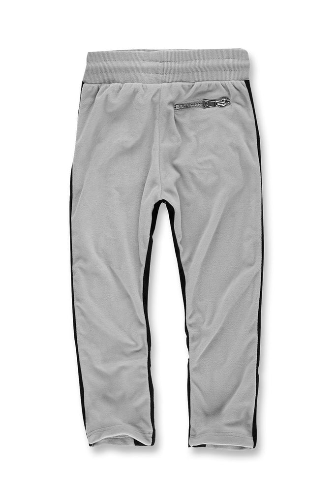 Jordan Craig - Kids Luciano Velour Pants (Grey)