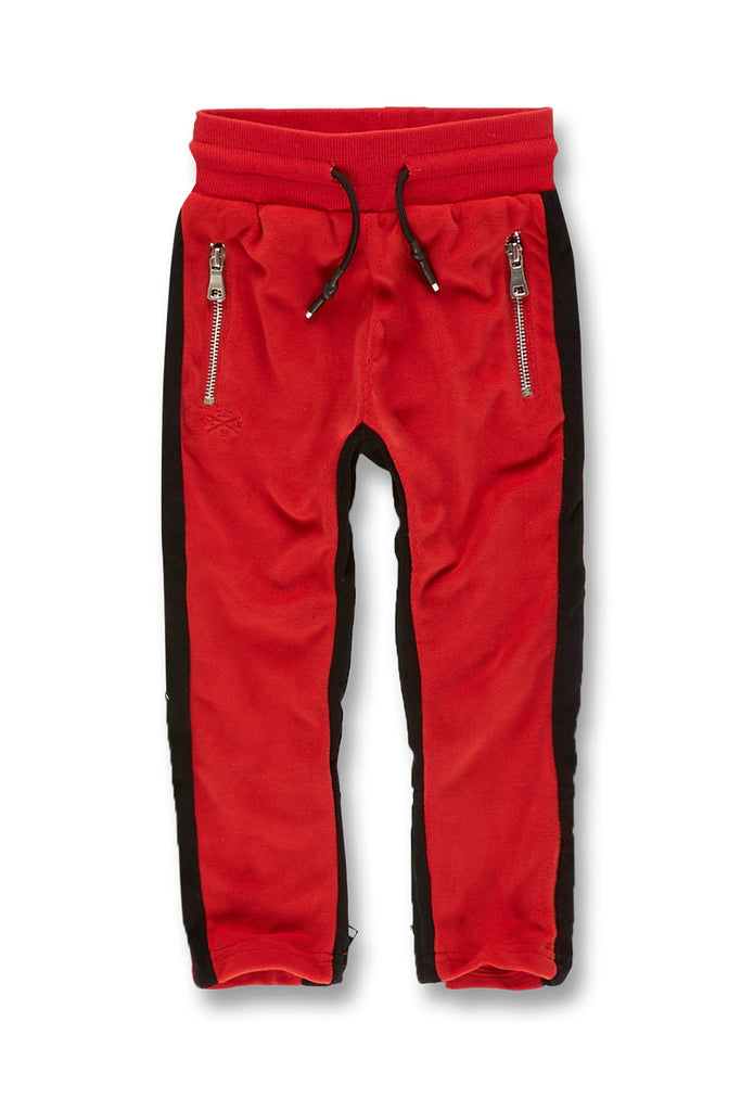 Jordan Craig - Kids Luciano Velour Pants (Crimson)
