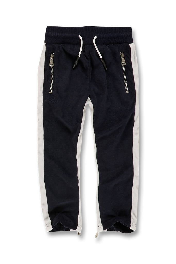 Jordan Craig - Kids Luciano Velour Pants (Navy)