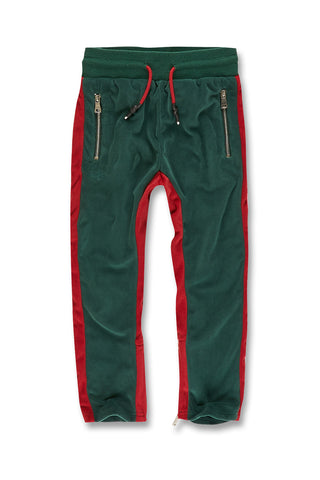 Jordan Craig - Kids Luciano Velour Pants (Green)