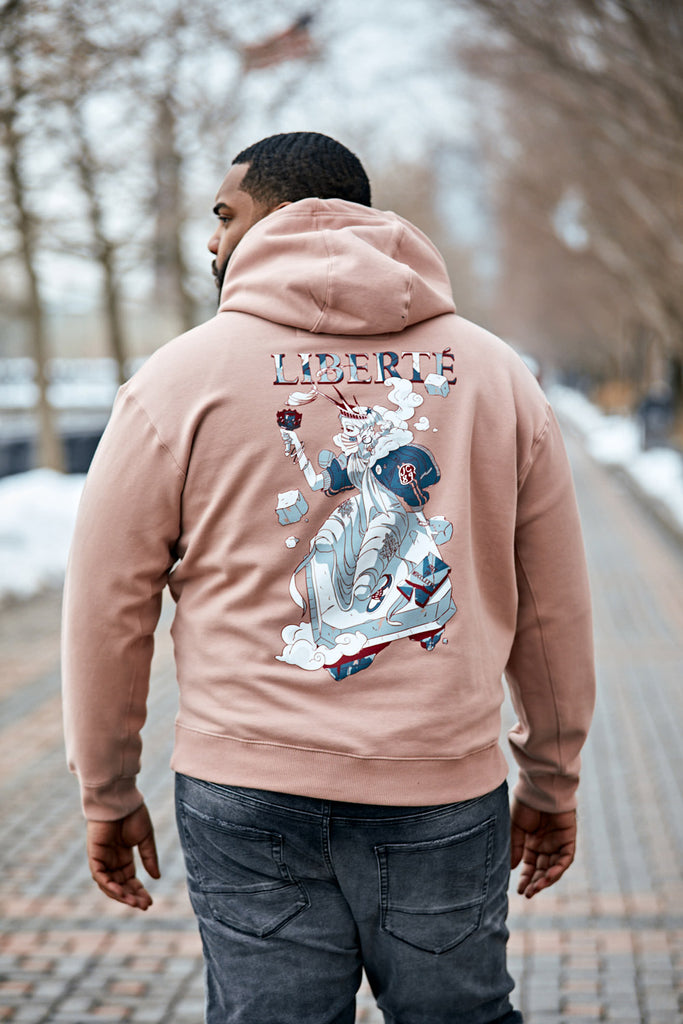 Liberty Pullover Hoodie (Dusty Rose)