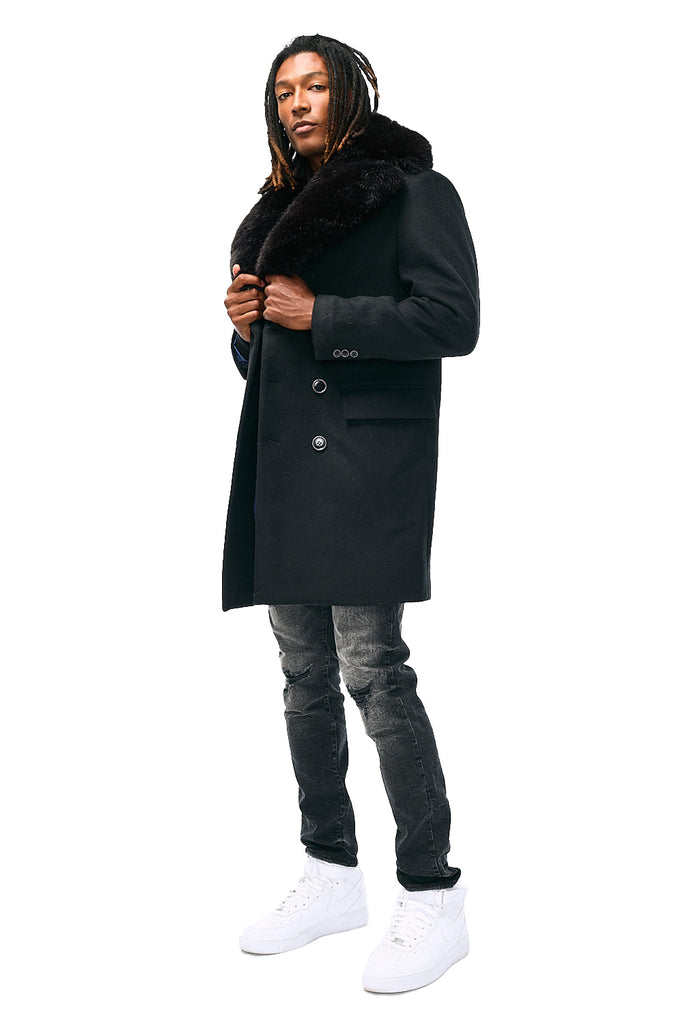 Frank White Peacoat (Black)