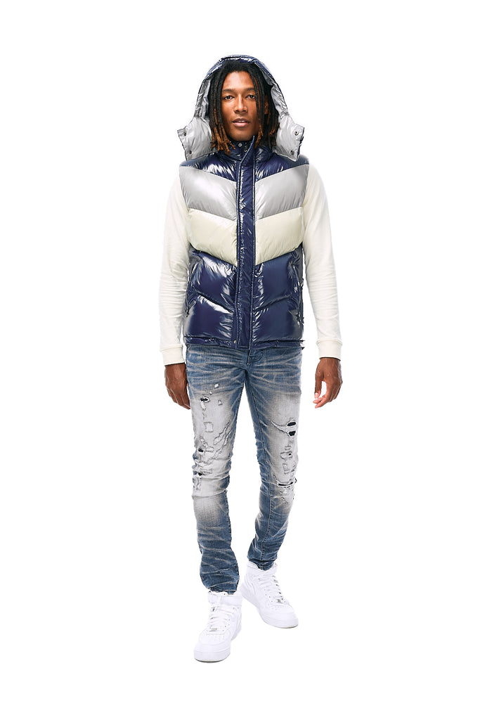 Sugar Hill Puffer Vest (London Blue)
