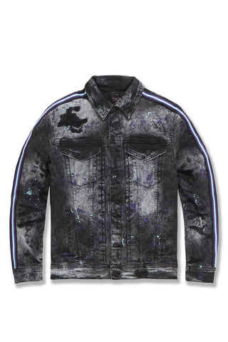 Sparta Striped Denim Jacket (Dark Raven)