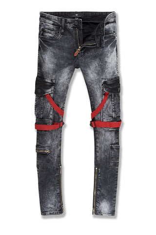 Ross - Deadwood Cargo Denim (Black Shadow)
