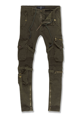 Ross - Brighton Cargo Pants (Army Green)