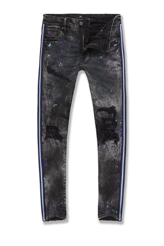 Sean - Sparta Striped Denim (Dark Raven)
