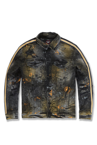 Sparta Striped Denim Jacket (Gold)