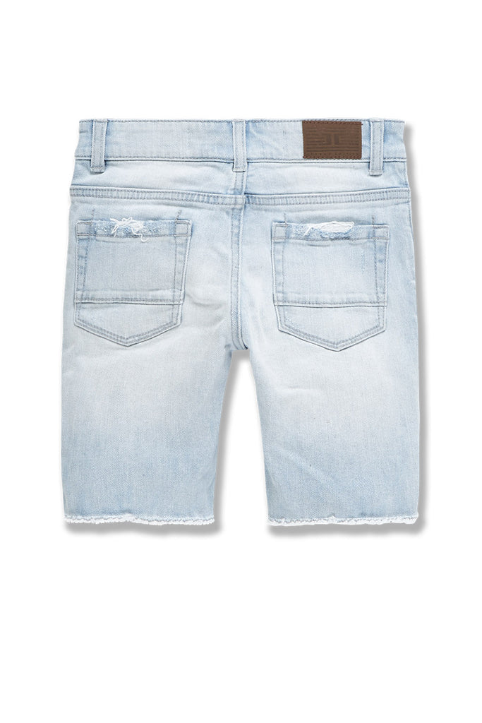 Kids Abyss Denim Shorts (Ice Blue)