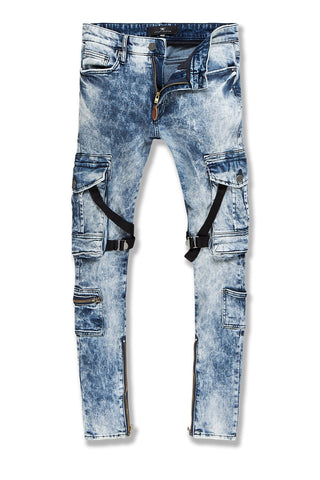 Ross - Deadwood Cargo Denim (Medium Blue)