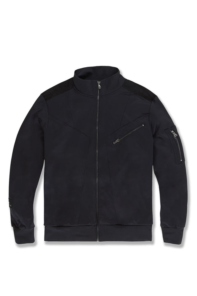 Big Men's Bristol Track Jacket (Jet Black)