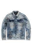 Sparta Striped Denim Jacket (University Blue)