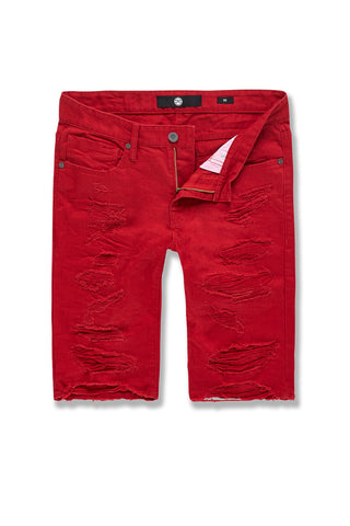 Belmar Twill Shorts (Red)