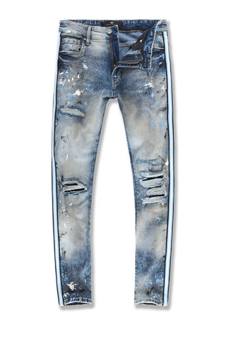 Sean - Sparta Striped Denim (University Blue)