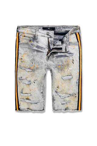 Time's Up Denim Shorts (Cement Wash)