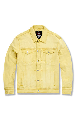 Atlanta Denim Jacket (Pastel Yellow)
